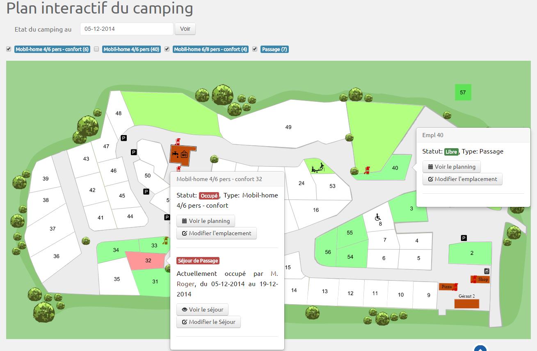 Logiciel camping hippocamp Plan interactif